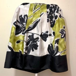 BCBG MAXAZRIA woven silk skirt size 6 pear combo